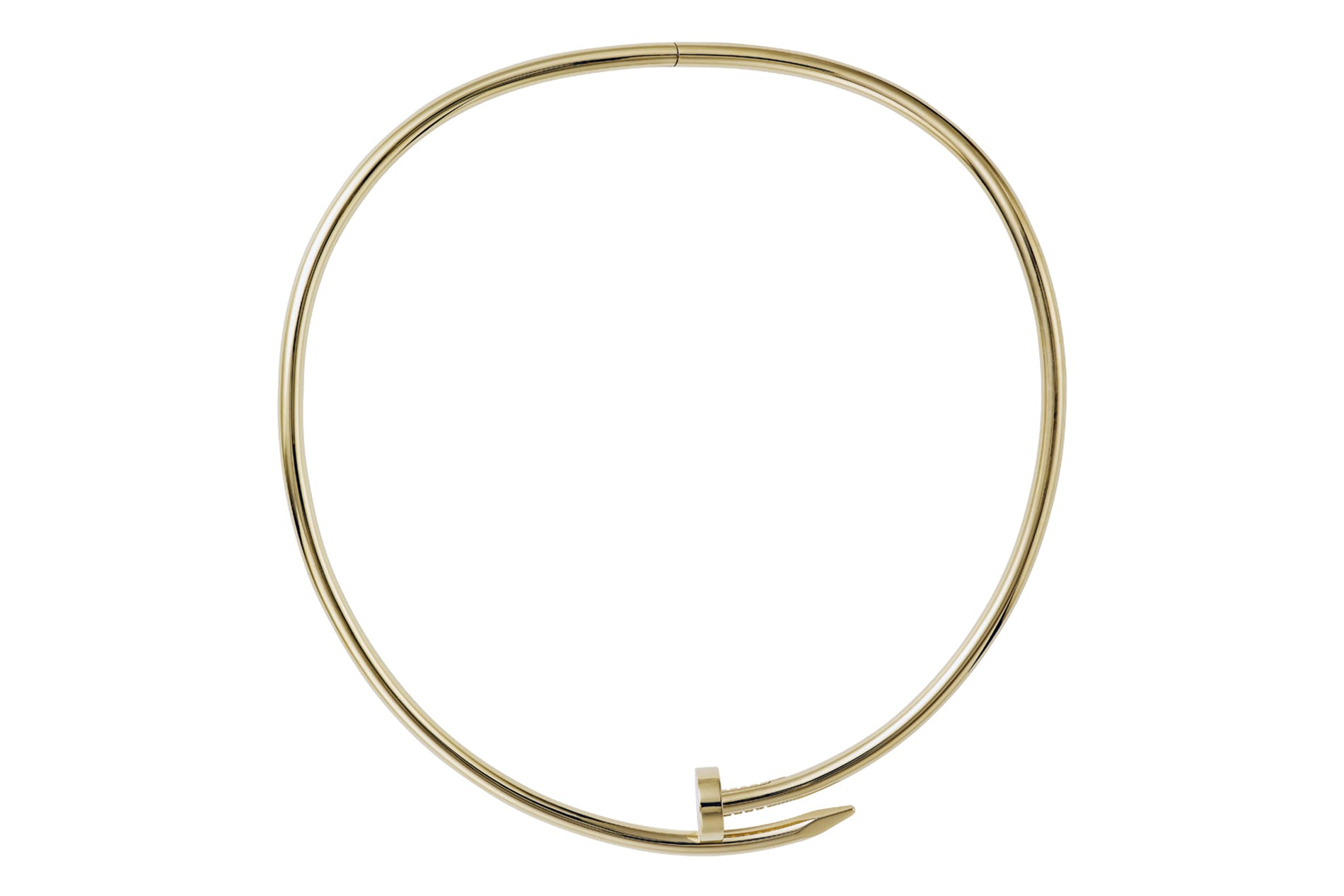 Juste un Clou torque necklace, small model in yellow gold