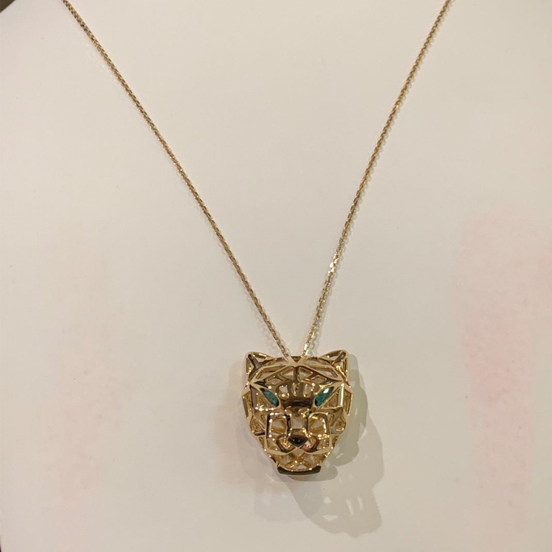 Cartier 18K Yellow Gold Panthere De Necklace N7424210