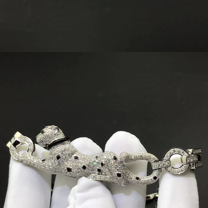 Panthere de Cartier Necklace 18k White Gold Set with 469 Diamonds N7048700