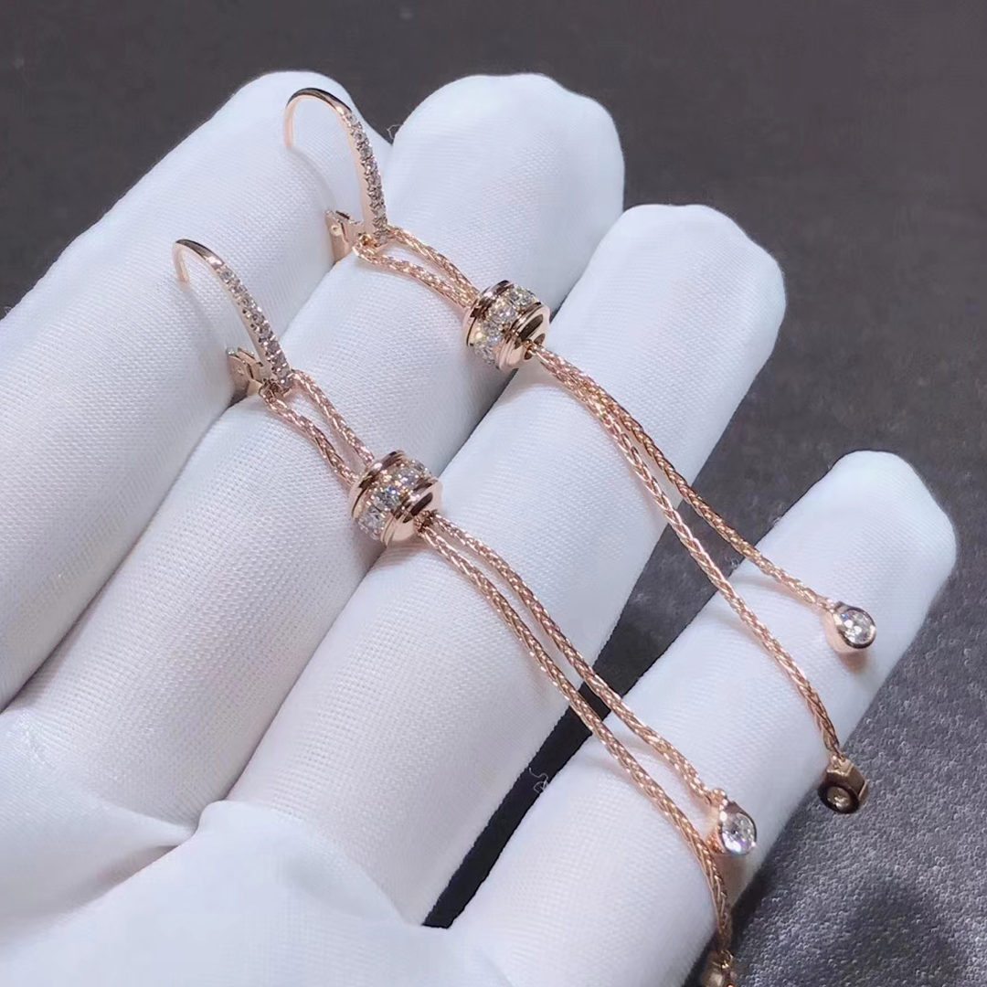 Piaget 18K Rose Gold With 40 Diamonds 0.97ct Possession Earrings G38PZ300