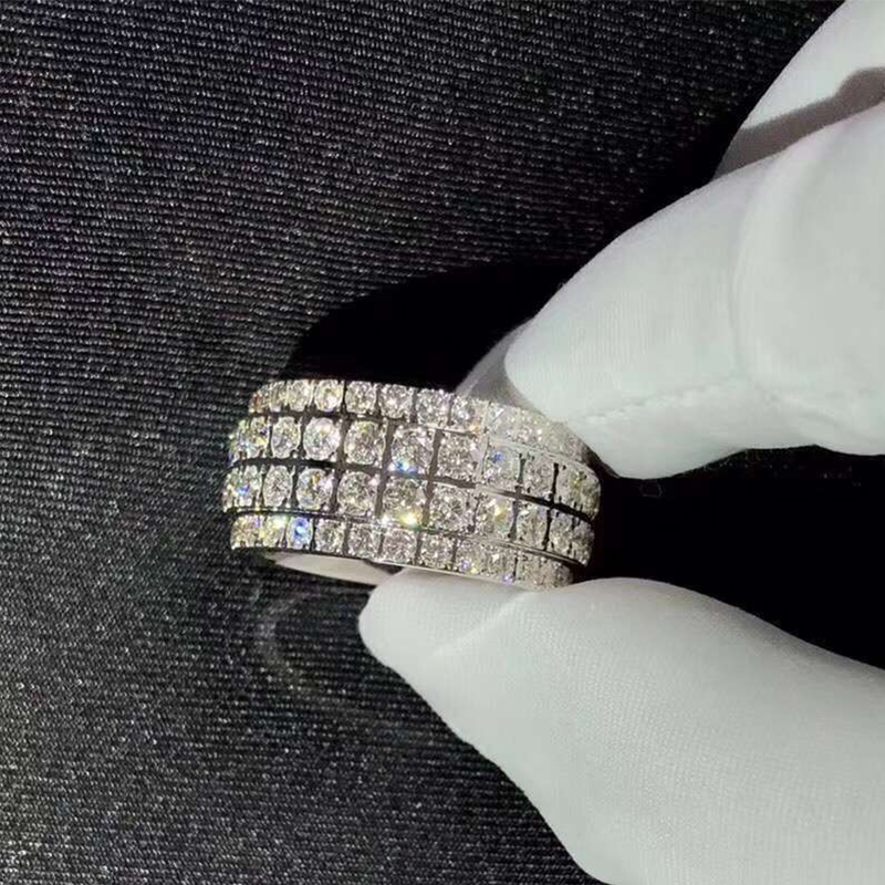 Piaget 18k White Gold with 112 Diamonds 5.45ct Possession Band Ring G34PY900